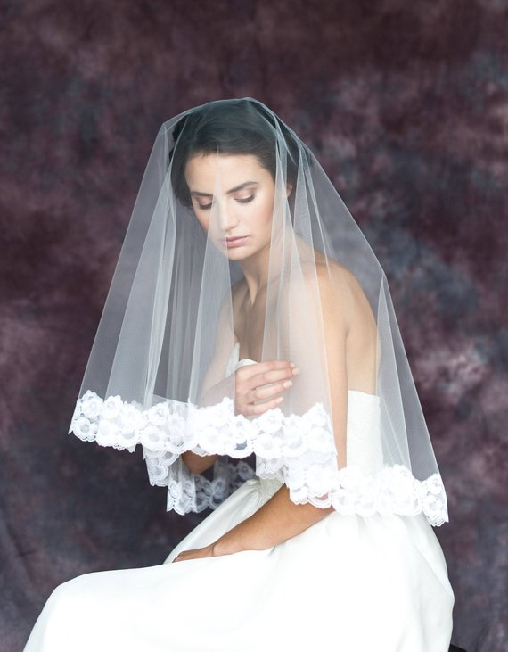 lace drop veil by blair nadeau bridal, photo by whitney heard