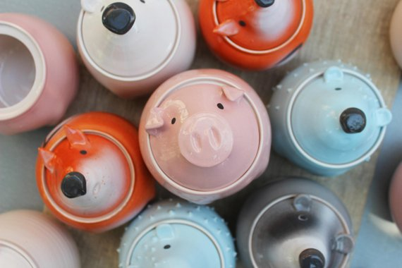cute animal jars
