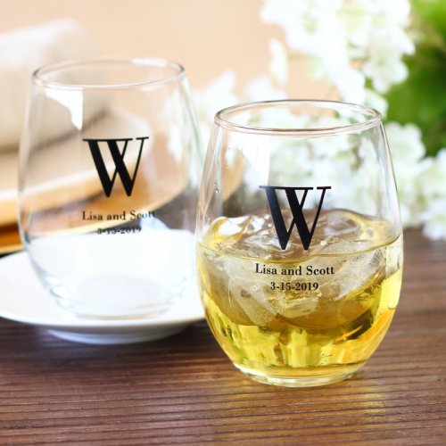 stemless wine glass wedding favors ideas via http://shrsl.com/153ts
