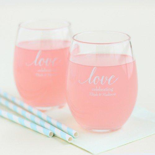 stemless wine glass wedding favors ideas via http://shrsl.com/153ts