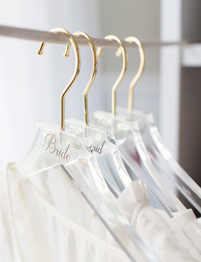 acrylic wedding hangers