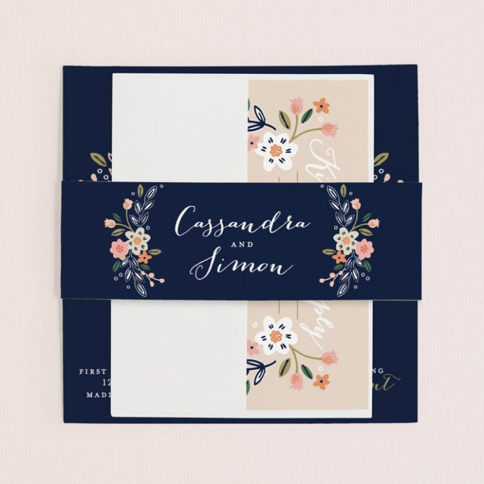 wildflower wedding invitations