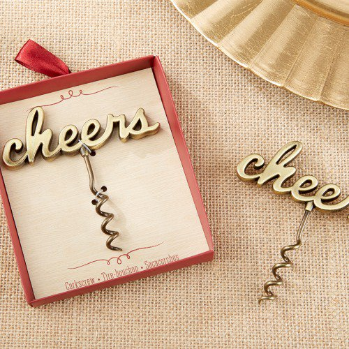 corkscrew wine favors