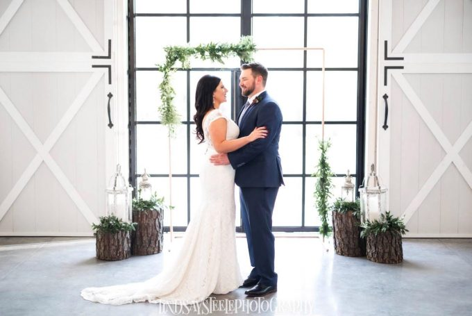 copper wedding arch