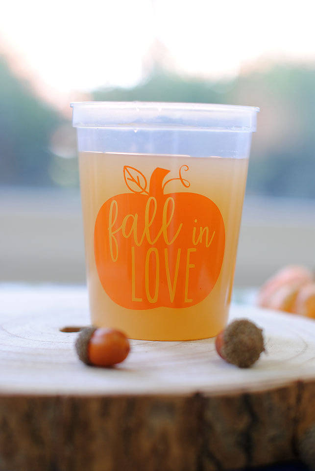 fall wedding cups