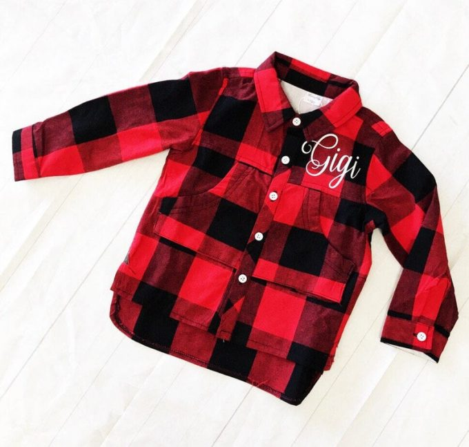flower girl flannel shirt