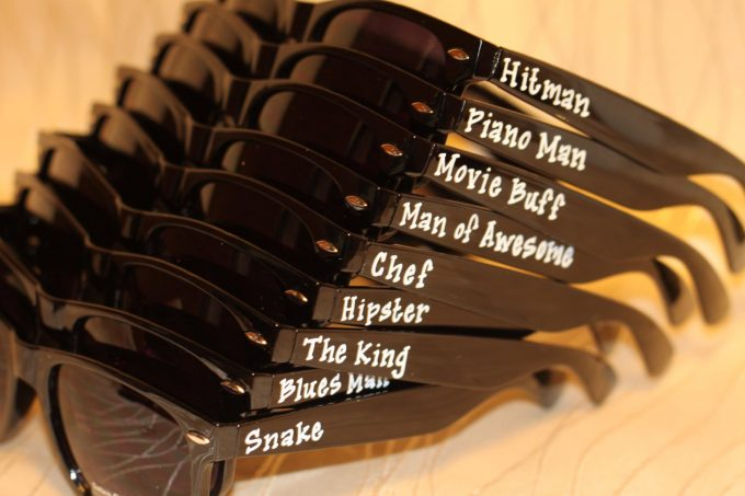 custom sunglasses for groomsmen