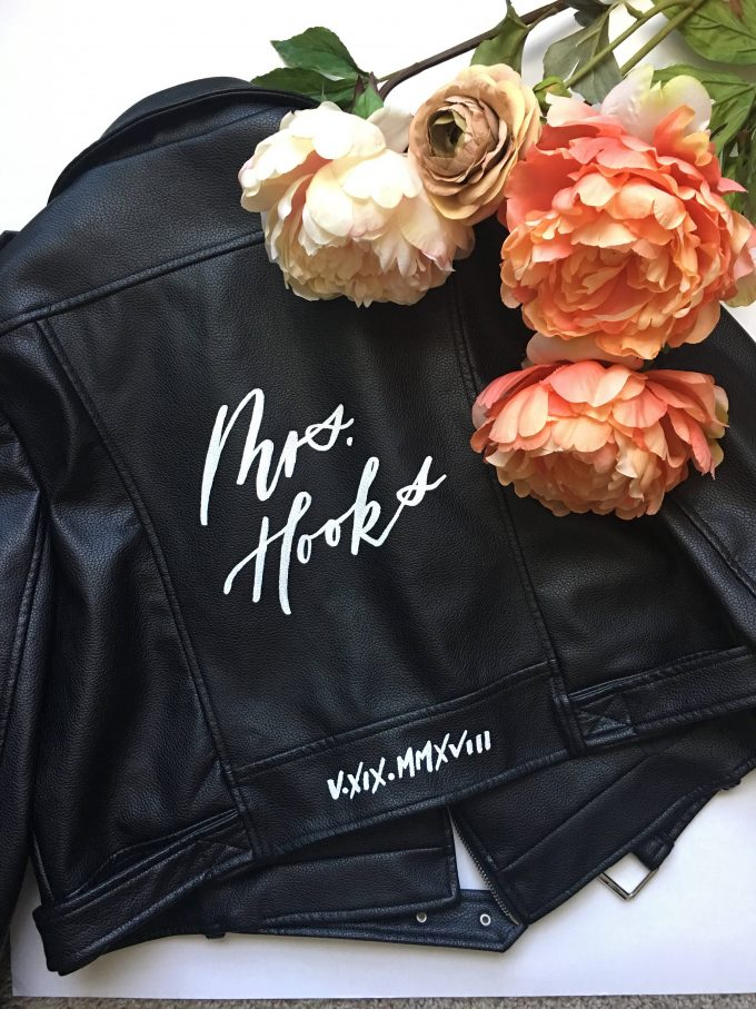 wedding leather jacket