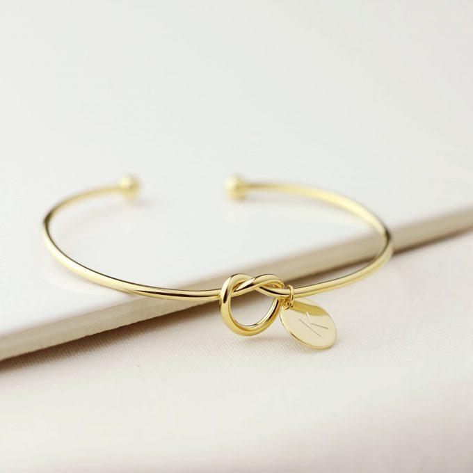 monogram initial bracelet
