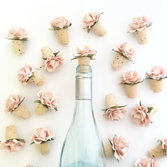wine toppers - wine favors