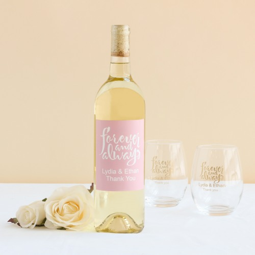 wine bottle labels - wine favors