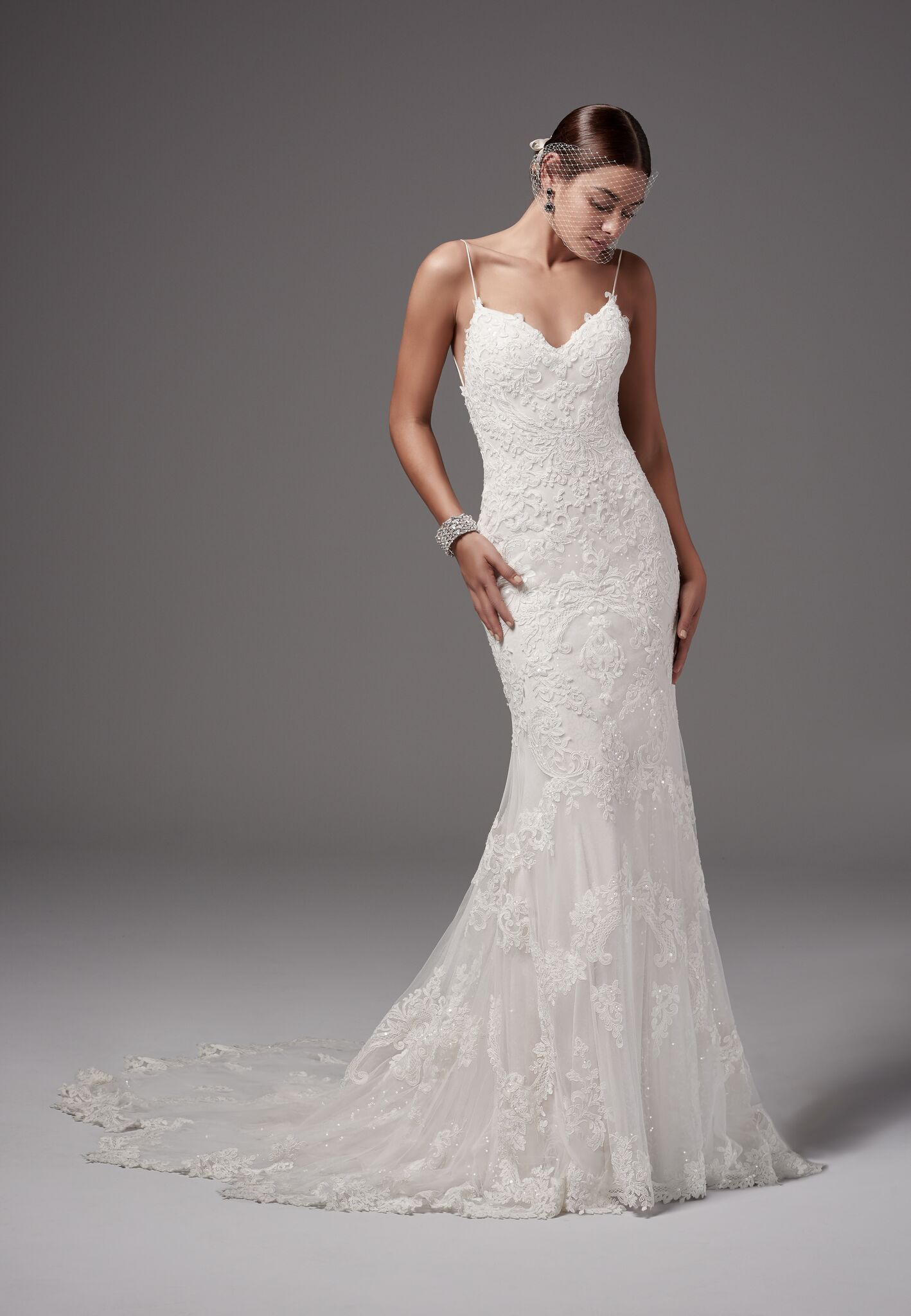 crisscross lace up wedding dress by sottero and midgley