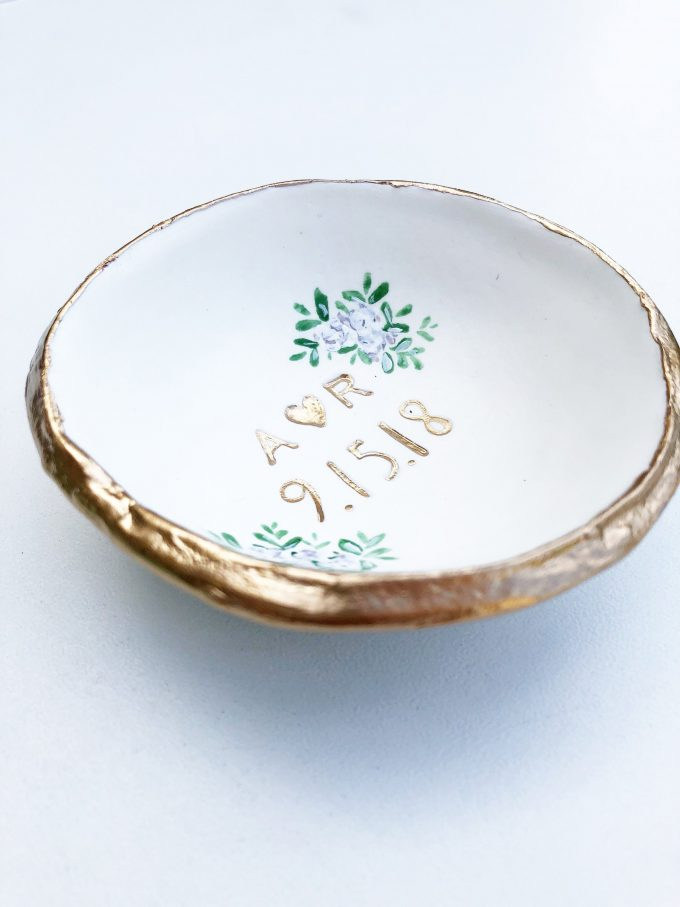 wedding ring dish personalized