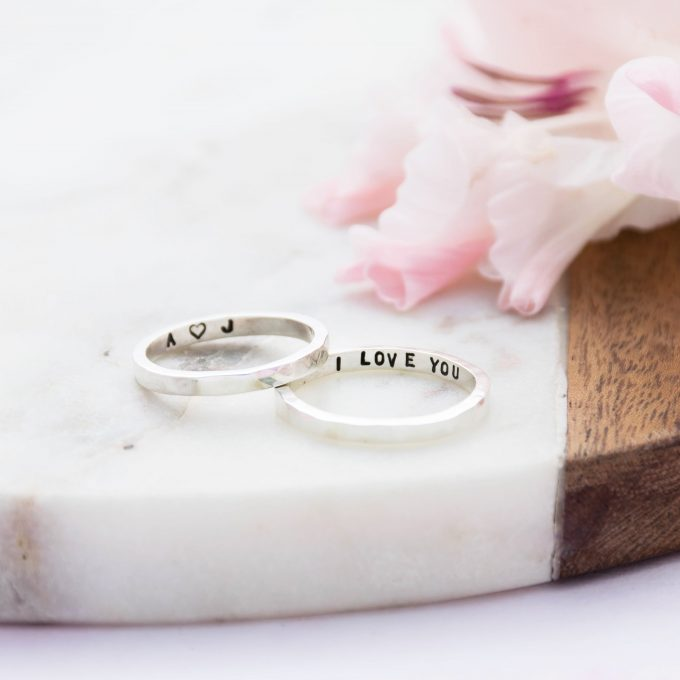 wedding ring with engraving inside