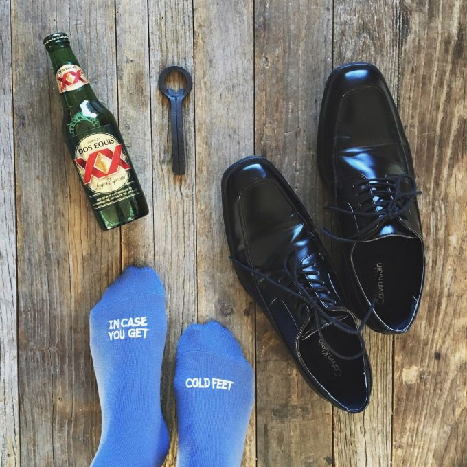 socks for the groom