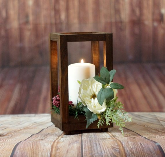 winter lantern centerpiece