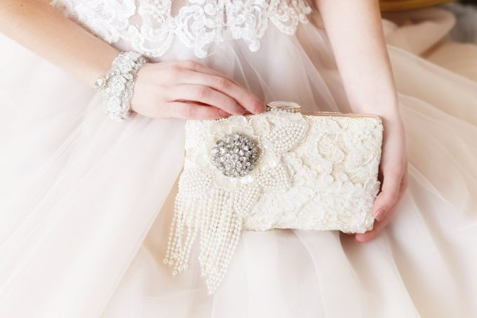 pearl clutch for bride