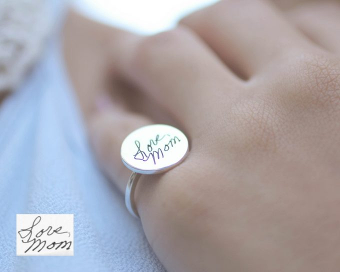 handwriting jewelry