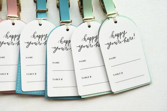 luggage tag wedding favors