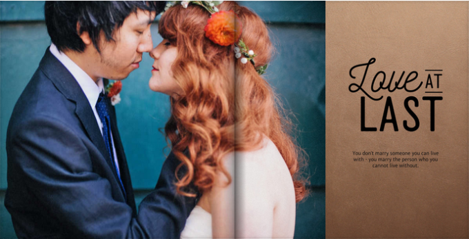 make a wedding photo book