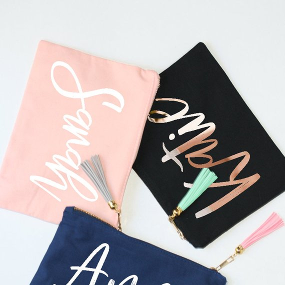 bridesmaid makeup bags