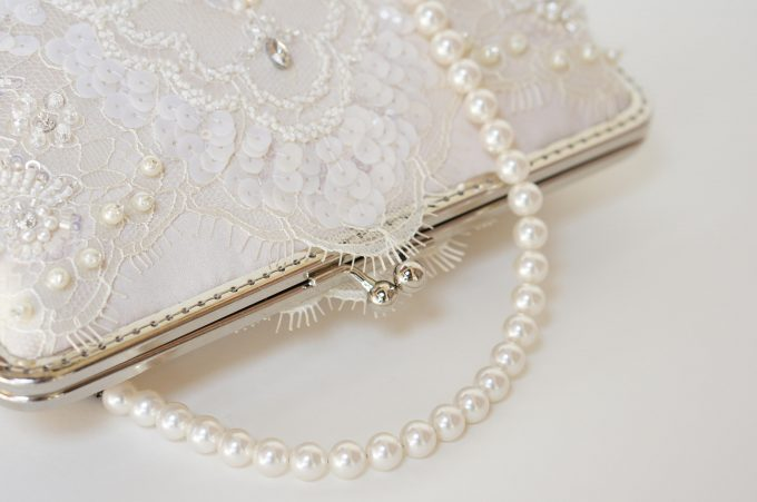 pearl clutch bag for weddings