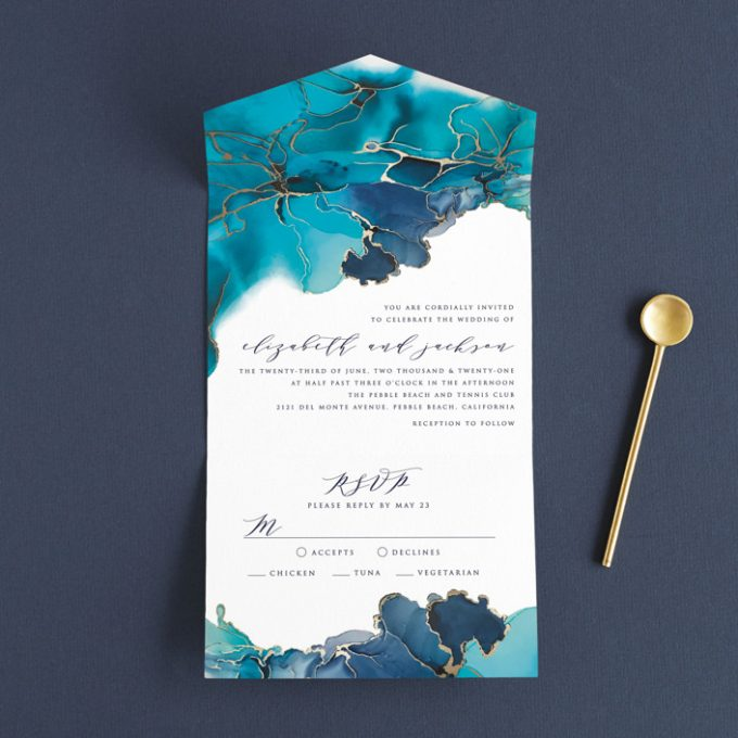 all in one wedding invitations by deegan design