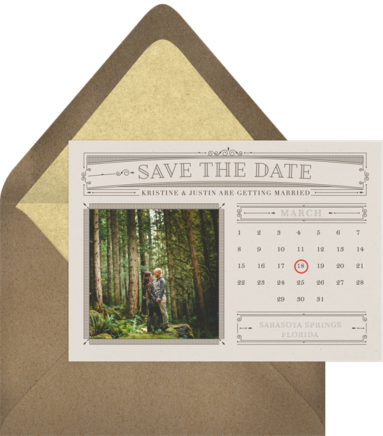 send save the dates via email