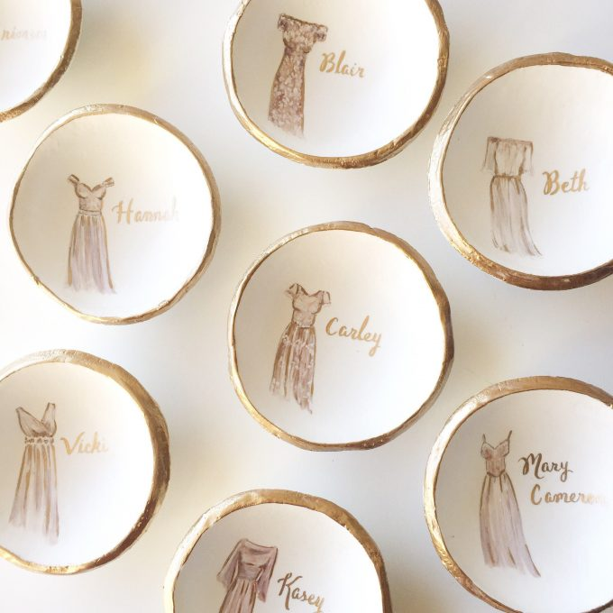 custom wedding ring dish