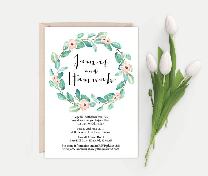 eucalyptus printable wedding invites template