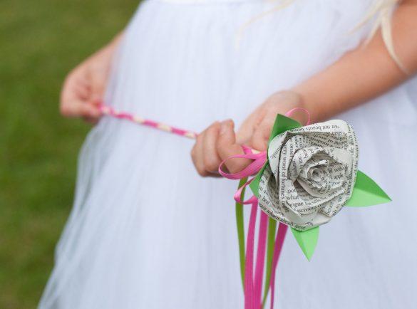 flower girl wands for weddings