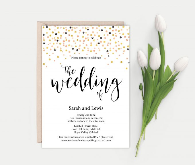 printable wedding invites template