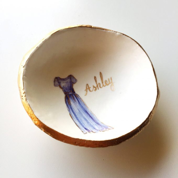 custom bridesmaid ring dish