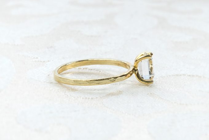 herkimer diamond ring etsy