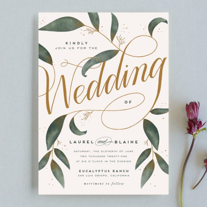 how to save money on wedding invitations