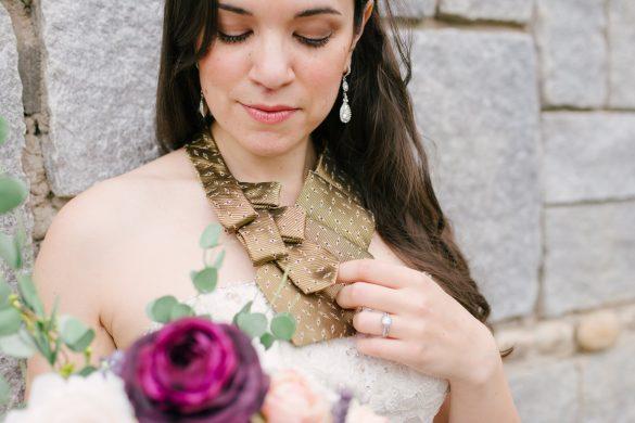bridal necktie scarf