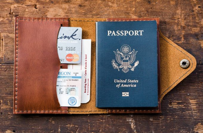 best travel wallet in leather