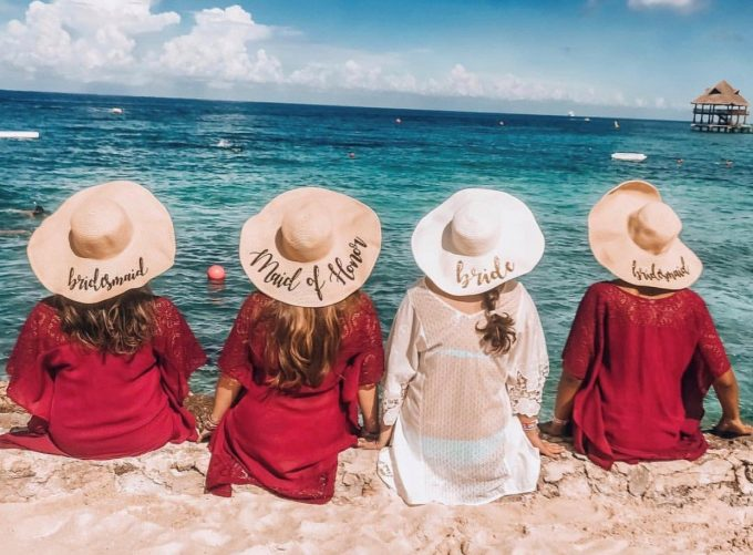 bachelorette floppy hats