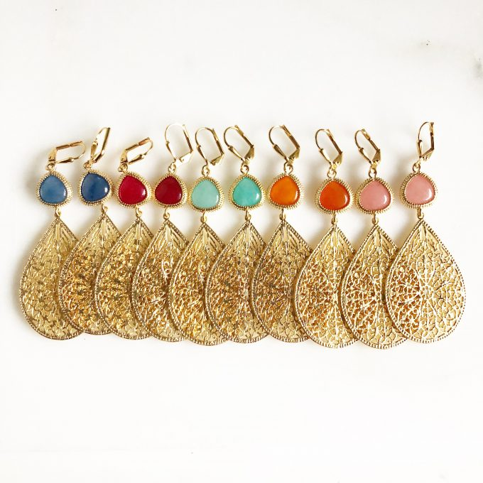 chandelier earrings via what kind of earrings do bridesmaids wear