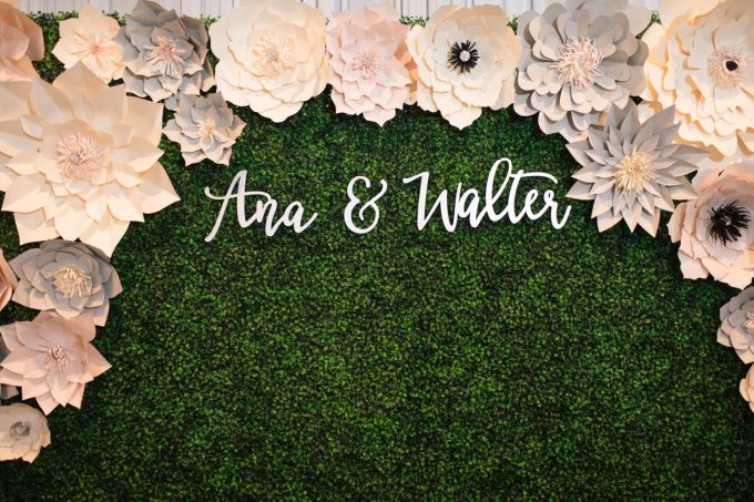 wedding last name sign