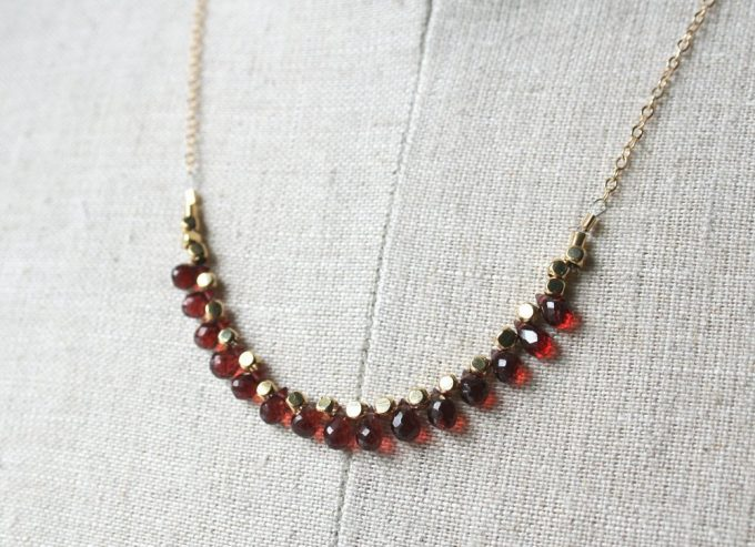 garnet january birthstone jewelry necklace