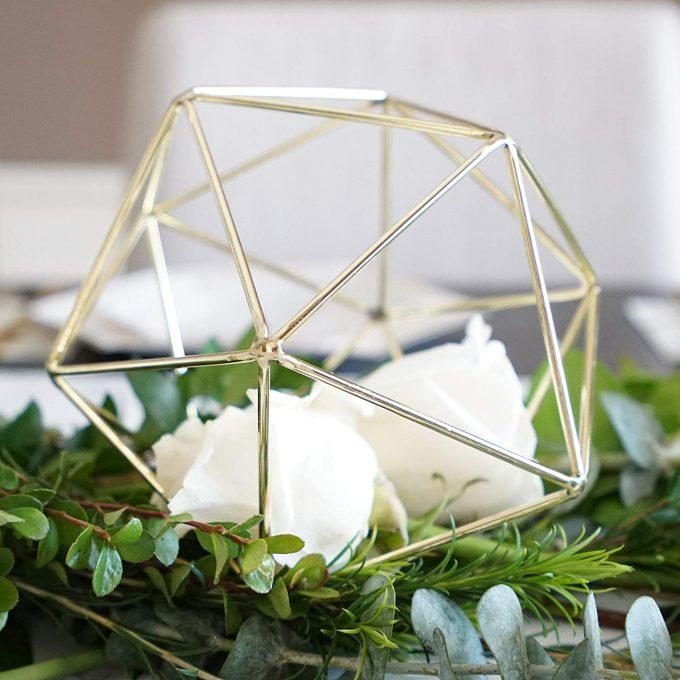 geometric wedding centerpieces bulk