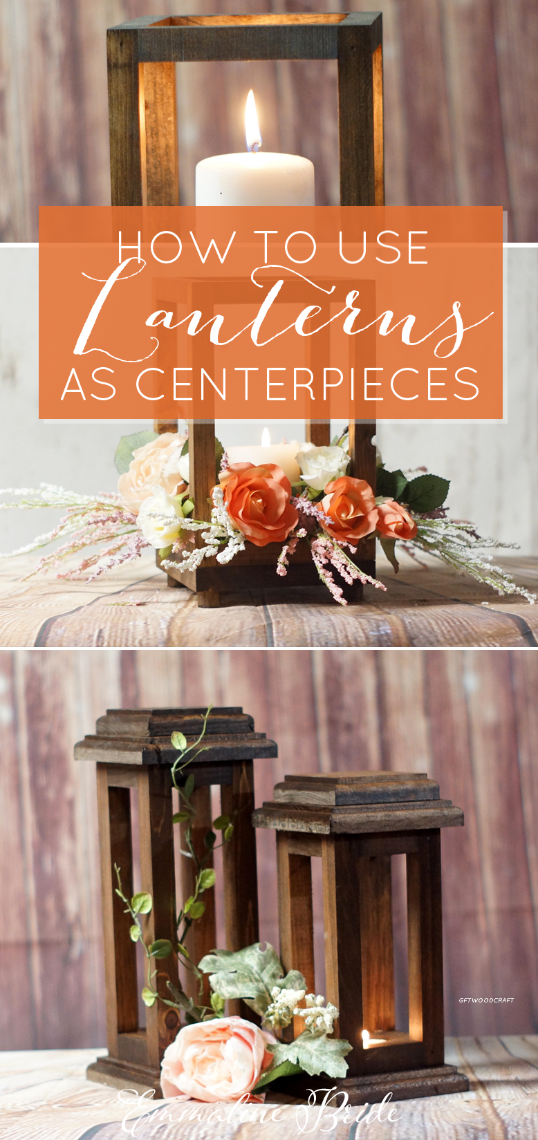 wood lantern centerpiece