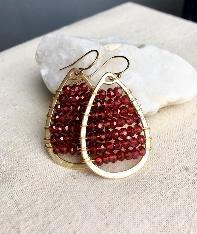 garnet january birthstone jewelry earrings