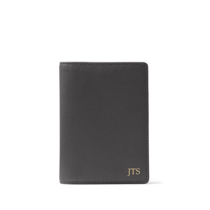 deluxe leather passport wallet