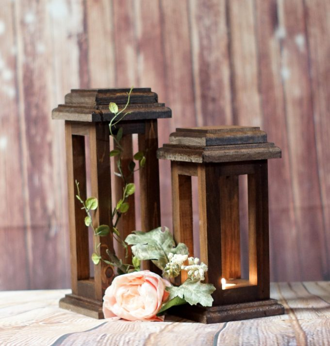 reclaimed wood lanterns
