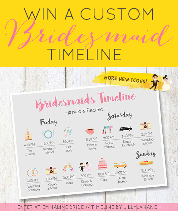 bridesmaid timeline
