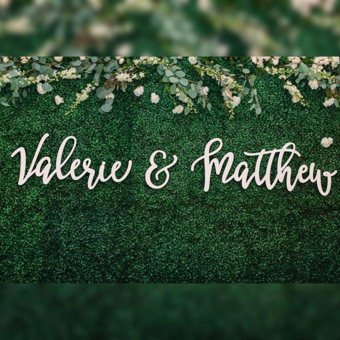 custom last name sign for wedding