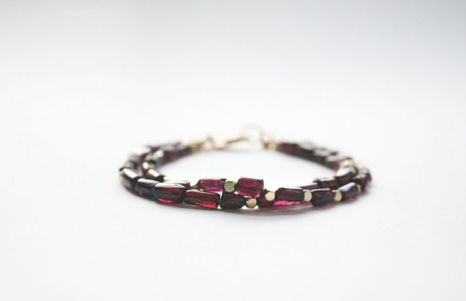 garnet birthstone jewelry bracelet