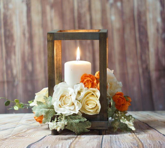 wood candle lanterns